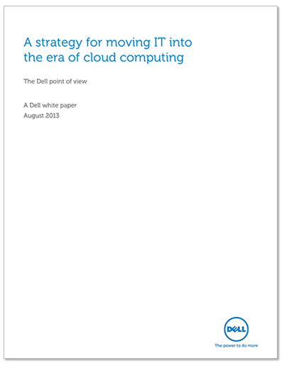 A Strategy for moving IT into the era of cloud computing