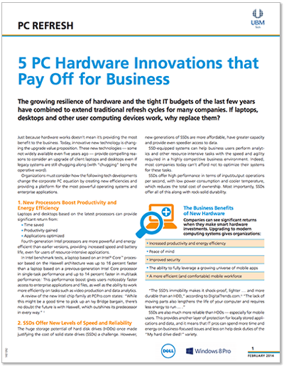 5 PC Hardware Innovations that Pay Off for Business