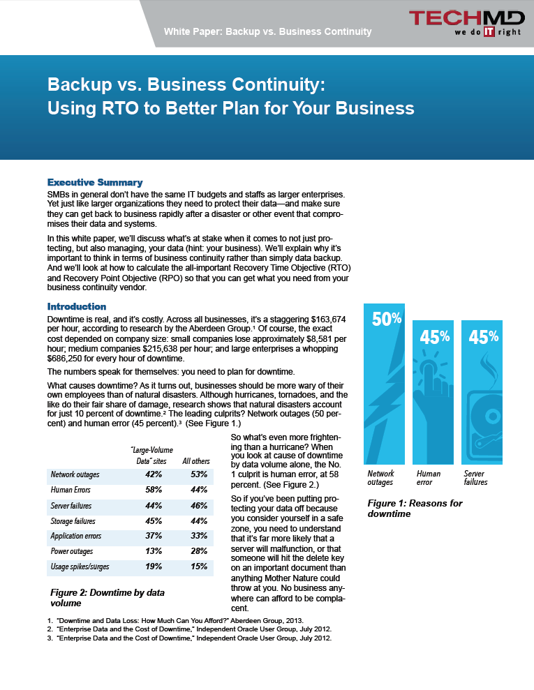 TechMD RTO vs RPO White Paper