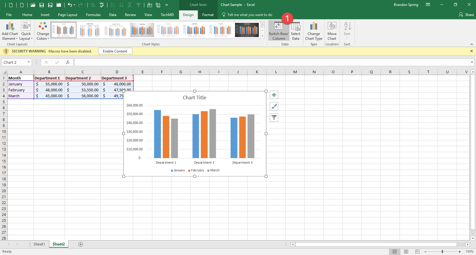 One minute wednesday creating an excel chart the select data button gives you the ability to adjust the data thats contained in your chart publicscrutiny Image collections