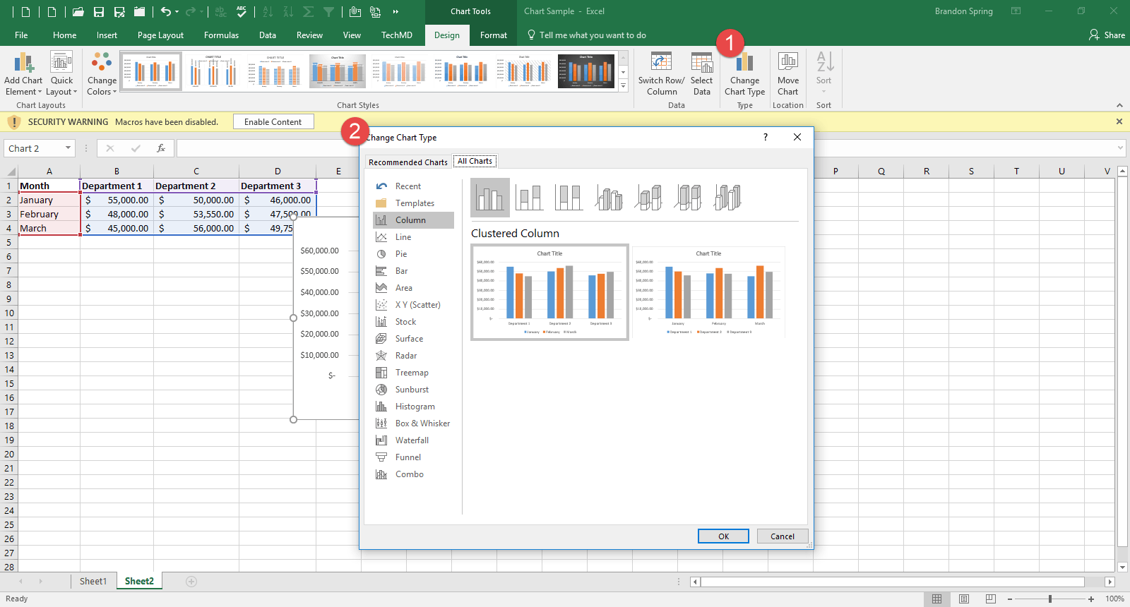 One-Minute Wednesday: Creating an Excel Chart