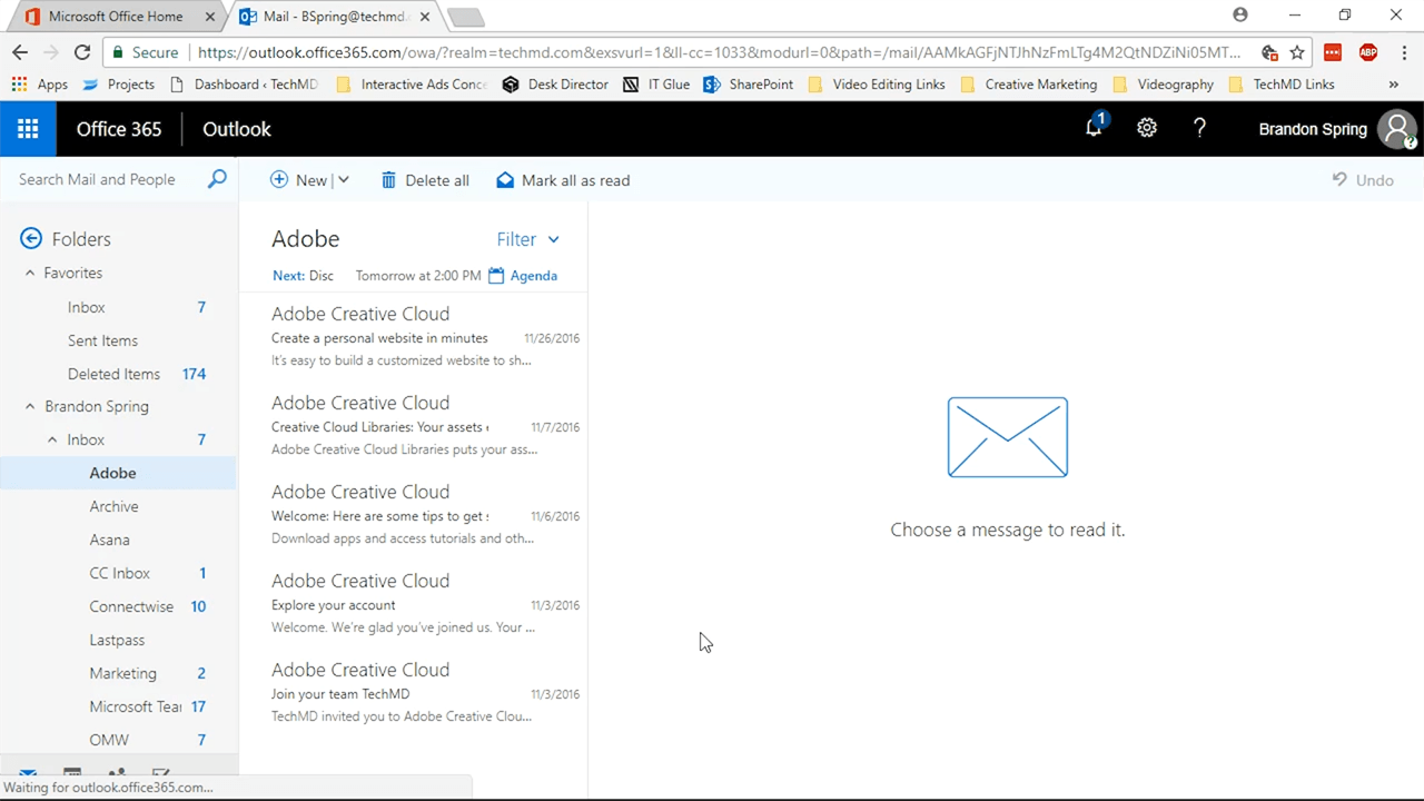 02 Outlook App Opened