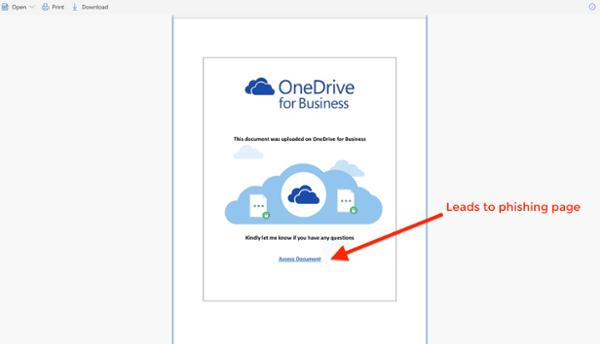 A malicious SharePoint file